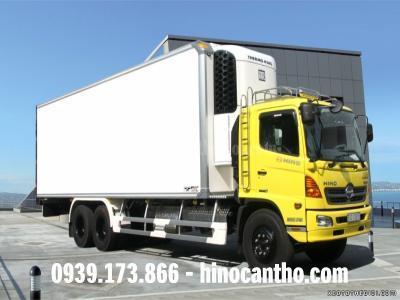Xe Hino thùng đông lạnh 16 tấn